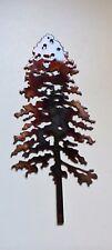 """Pine Tree Metal Wall Art Decor Accent 10""""x 4"""""""