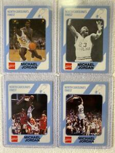 MICHAEL JORDAN - A VERY NICE LOT OF FOUR (4) 1989 NORTH CAROLINA/COCA-COLA CARDS