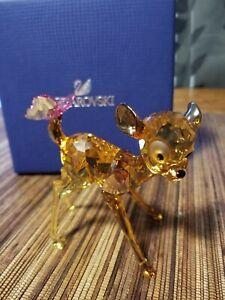 Swarovski Crystal Bambi Figurine 5004688 W/ Boxes Brand New Authentic
