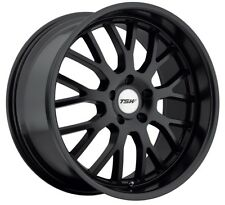 18x8 TSW Tremblant 5x120 +20 Matte Black Rims Fits BMW 525 530 E34