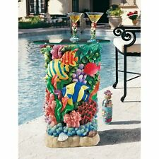 """EU30405 -  The Great Barrier Reef Glass-Topped Table - 16"""" Pencil-Edge Glass Top"""