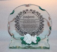 For Grandma & Grandad wedding Anniversary Beautiful glass poem plaque gift #6