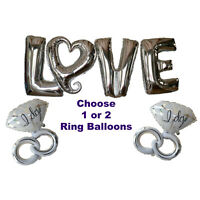 Engagement Party Decorations, Love Heart Balloons & Silver I Do, Wedding Ideas