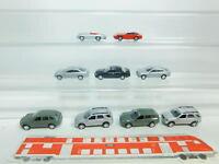 BN182-0,5# 9x Highspeed H0/1:87 Metall-Auto: Porsche + Mercedes-Benz/MB, NEUW