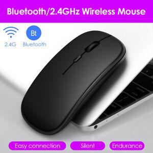Dual Mode 2,4 GHz Wireless + Bluetooth Maus Wiederaufladbare optische PC Mäuse