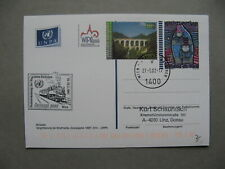 UNITED NATIONS VIENNA, uprated ill. prestamped PC 2002, WIPA , art Hundertwasser