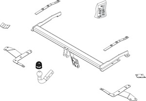 Brink Towbar for Toyota Corolla Verso MPV 2004-2009 - Swan Neck Tow Bar