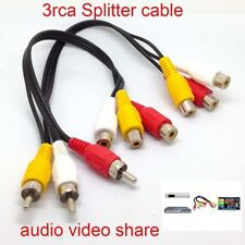 3RCA Male Jack to 6RCA Female Plug Splitter Audio Video AV TV DVD Adapter Cable