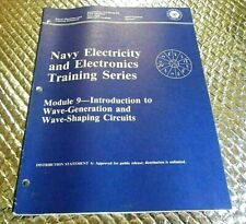 1983 Naval Training book Navy Module 9 Wave Generation & Wave Shaping Circuits