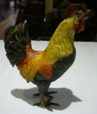 Franz Xavier Bergmann Hallmarked Cold Painted Bronze Rooster #4263