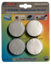 4 STECKEL Silber-Edition schicke Steckdosen Abdeckung Staubschutz erspart Putzen