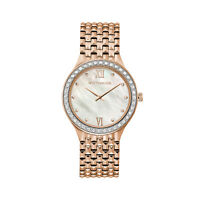 Wittnauer Women's WN4094 Quartz Diamond Accents Rose Gold Tone 36mm Watch