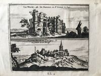 Incisione Saint Germain En Laye La ( ; Di Groote Kerck Van Flavigny Xvii Secolo