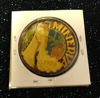 1979 Krewe of MINERVA multi-color cloisonne bronze Mardi Gras Doubloon