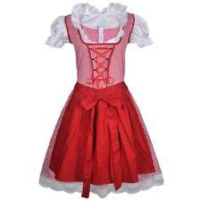 Oktoberfest Dirndl Dress Trachtenkleid with Apron Red Size UK L/XL SA172 LL 02