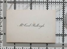Antique Calling Card Mme Cecil Bullough
