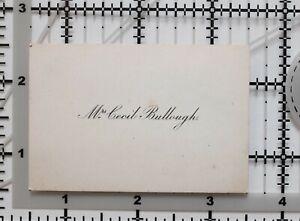 ANTIQUE CALLING CARD MRS CECIL BULLOUGH