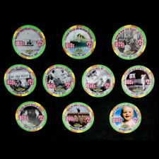 """HARD TO FIND / Tropicana 10 Pc. """"Centuries Greatest Moments"""" $25 Chip Set"""