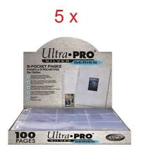 5 x 100 Leaves Ultra Pro Silver For Ranger 9000 Cards Pokemon Magic Or Other