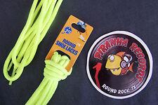 "Neon Yellow Thin Round 36"" x (1/8""-3/8"") JN Shoelaces Shoe Strings Piranha"