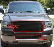 Fits 2006-2008 Ford F-150 Black Billet Grille Combo