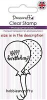 Dovecraft Klein,transparent Cling Stempel - dcstp079 - Party Ballons - Happy