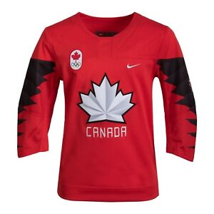 2018 Team Canada Hockey Olympic Red Replica Jersey - Child Age 6