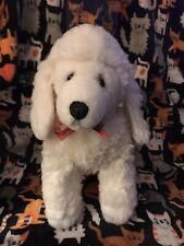 Dakin Poodle Dog White Plush Stuffed Animal