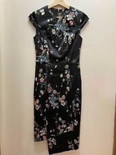 Cue Black Floral Dress Size 6
