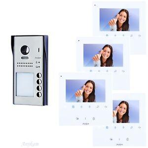 Video Türsprechanlage Türanlage Klingelanlage Sprechanlage RFID 607S4 4x DT43