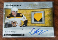 2007-08 fleer hot prospects hockey Prized Prospects Auto Patch #221 David Krejci
