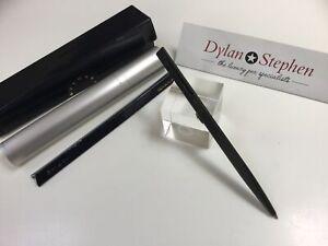 BVLGARI Eccentric matte black ballpoint pen with case NEW
