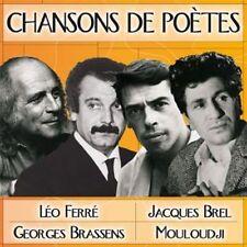 CD Chansons de Poètes /Brel, Ferré, Mouloudji, Brassens