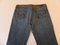 Citizens of Humanity Ingrid Stretch 002 Low Waist Flare 29 x 29 1/2 Womens Jeans