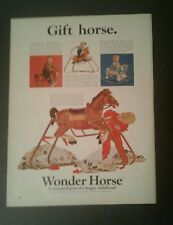 1966 Wonder Horse Wilson Sporting Goods Kids Cookie Powered Toy Promo Trade AD