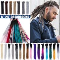 Afro Men Dreadlocks Twist Crochet Dreads Hair Extensions Faux Locs Grey Braids