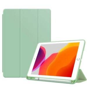 Slim Smart Folding PU Leather Stand Case Cover with Pencil Holder for Apple iPad