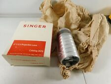 """NOS Singer 5"""" F/3.5 Projection Lens Catalog 3572 With Box"""