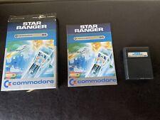 Star Ranger Game Cartridge Commodore 64 Manual And Box CIB