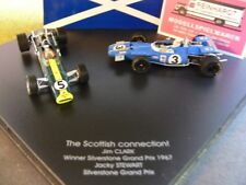 1/43 Quartzo Set The Scottish Co. Jim Clark, Jacky Stewart Silvesterstone Gr.