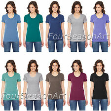 American Apparel Ladies Triblend Shortsleeve Track T Shirt Womens Tee - TR301W