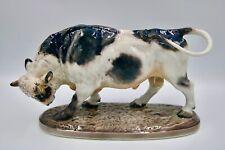 Superb Dahl Jensen porcelain figurine 1264 Bull Lauritz 30cm Royal Copenhagen
