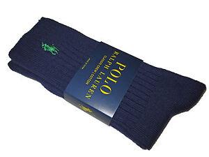 Polo Ralph Lauren Purple Green Classic Mens Crew Ribbed Socks