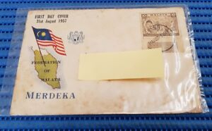 1957 Federation of Malaya First Day Cover Merdeka