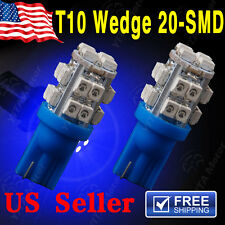 2 X ULTRA BLUE T10 20-SMD LED LICENSE PLATE Light bulbs W5W 2825 158 192 168 194