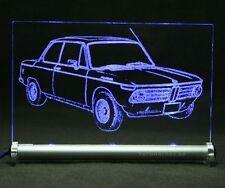 BMW 1600-2 Alpina  als AutoGravur auf LED Schild   1600