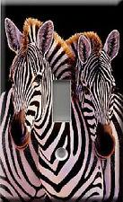 Single Light Switch Plate Cover - Backrub - Animals Life - Zebra