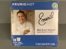 Emeril's Big Easy Bold Coffee Keurig Single-Serve K-Cup Pods, 18 Count EXPIRED