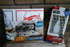 Star Wars Full Sheet Set and Pair of Window Panels Curtains Combo New
