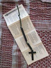 Rugged Military Warrior Ranger Paracord Pocket Rosary